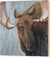 Alaskan Bull Moose Wood Print