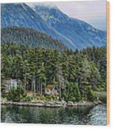 Alaskan Mountain Retreat Wood Print