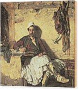 Albanian Sentinel Resting Wood Print