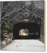 Albany Covered Bridge  Wood Print