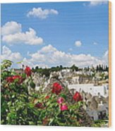 Alberobello Trulli Houses Wood Print