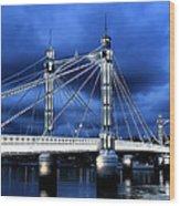 Albert Bridge London Wood Print by Jasna Buncic