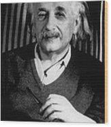 Albert Einstein, German-american Wood Print