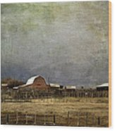 Alberta Farm Land Wood Print