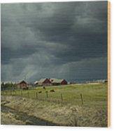 Alberta Stormy Weather Wood Print