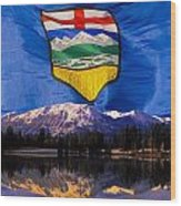 Albertas Rocky Mountains Wood Print