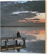 Albufera. Couple. Valencia. Spain Wood Print