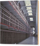 Alcatraz Cell Block Wood Print