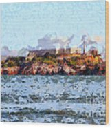 Alcatraz Island In San Francisco California . 7d14031 Wood Print by Wingsdomain Art and Photography