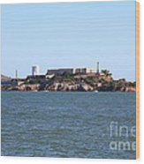 Alcatraz Island In San Francisco California . West Side . 7d14007 Wood Print by Wingsdomain Art and Photography