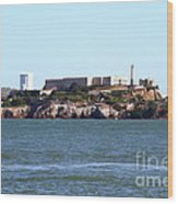 Alcatraz Island In San Francisco California . West Side . 7d14031 Wood Print by Wingsdomain Art and Photography