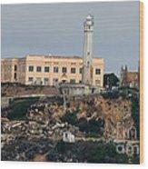 Alcatraz Island Lighthouse - San Francisco California  Wood Print