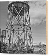 Alcatraz Penitentiary Water Tower Wood Print