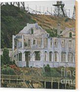 Alcatraz Skeleton Wood Print