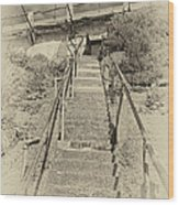 Alcatraz Two-way Work Staircase Wood Print