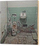 Alcatraz Vandalized Cell Wood Print