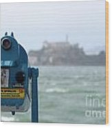 Alcatraz View Wood Print
