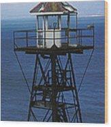 Alcatraz Watch Tower Wood Print by Paul W Faust -  Impressions of Light
