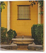 Alcazar Fountain In Spain Wood Print