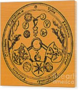 Alchemical Symbols, 1670 Wood Print