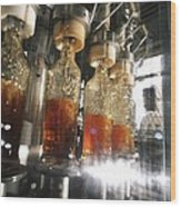 Alcoholic Drinks Production, Russia Wood Print