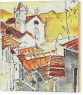 Alcoutim In Portugal 06 Wood Print