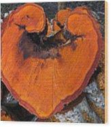 Alder Heart Wood Print