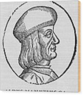 Aldus Manutius, Italian Printer Wood Print