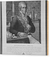 Alessandro Volta, Italian Physicist Wood Print by Omikron