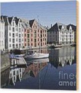 Alesund Norway Wood Print