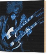 Doubleneck Spokane 1978 Blue Wood Print