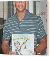 Alex Rodriguez At In-store Appearance Wood Print by Everett