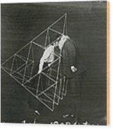 Alexander Graham Bell And Mabel Kissing Wood Print