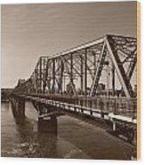 Alexandria Bridge Wood Print