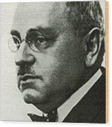Alfred Adler, Austrian Psychologist Wood Print