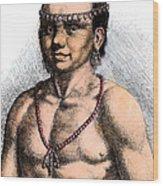 Algonquian Man, 1645 Wood Print