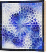 Alhambra Pattern Blue Wood Print