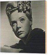 Alice Faye 1915-1998 American Singer Wood Print by Everett