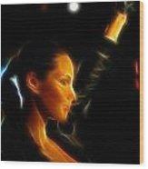 Alicia Keys - Singer Wood Print by Lee Dos Santos