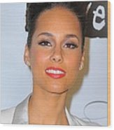 Alicia Keys At Arrivals For Keep Wood Print by Everett