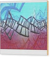 Alien Fence Over The Red Sea Wood Print