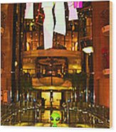 Alien on the TP'd Bridge  Wood Print