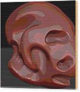 Alien Skull Wood Print