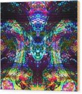 Alien Sunglasses Wood Print