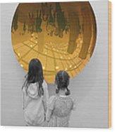 Aliens Wood Print by Nina Mirhabibi