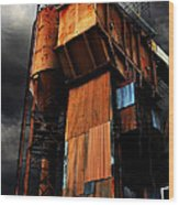 Alive And Well In America . The Old Concrete Plant In Berkeley California . 7d13967 Wood Print