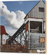Alive And Well In America . The Old Industrial Sand Plant In Berkeley California . 7d13952 Wood Print
