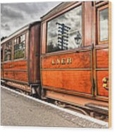 All Aboard Wood Print by Adrian Evans