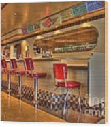 All American Diner 2 Wood Print