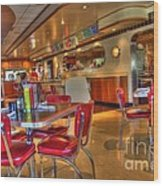 All American Diner 5 Wood Print by Bob Christopher
